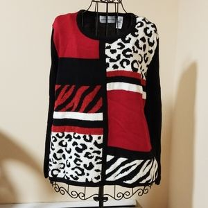 Alfred Dunner acrylic and cotton sweater size L
